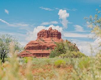Desert Art, Sedona, Arizona - Dreamy Light and Airy Warm Tones, Southwestern Art, Red Rock, Bell Rock, Arizona Print, Arizona Photograph