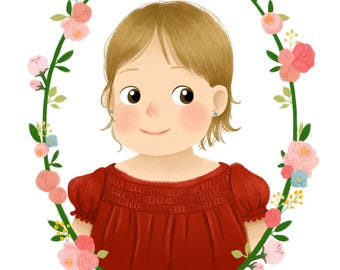 Custom Children Portrait Illustration