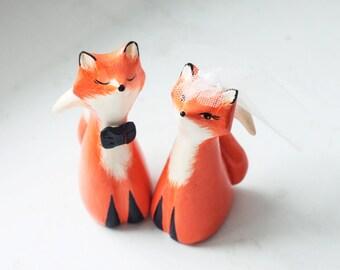 Wedding Cake Topper , Fox Cake Topper, Love Fox