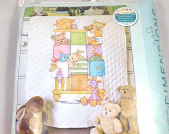 Baby Drawers Quilt Cross Stitch Kit, Dimensions 73537, Small Quilt Front