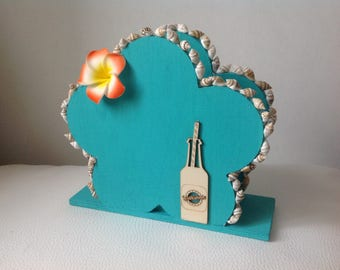 Beach and tropical. Turquoise paper towel holder