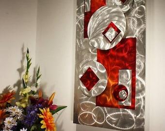 Wilmos Kovacs - Abstract Metal Wall Sculpture, Modern Metal Wall Art Decor, Original Art - W153