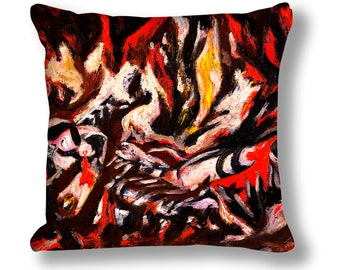 Demon Fire Painting Cushion Cover