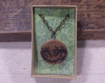 Wooden Electro-Pyrography Necklace