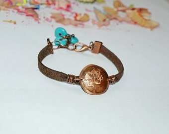 Copper jewelry Gift bracelets Copper cuff bracelet Bracelets for women Etching copper bracelet Inspiration bracelet Copper jewelry bracelets