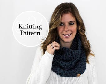 Knitting Pattern Calvert Cowl Instant Download