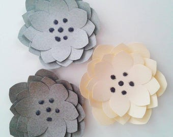 Paper for wedding wall decor - flower sequined flowers