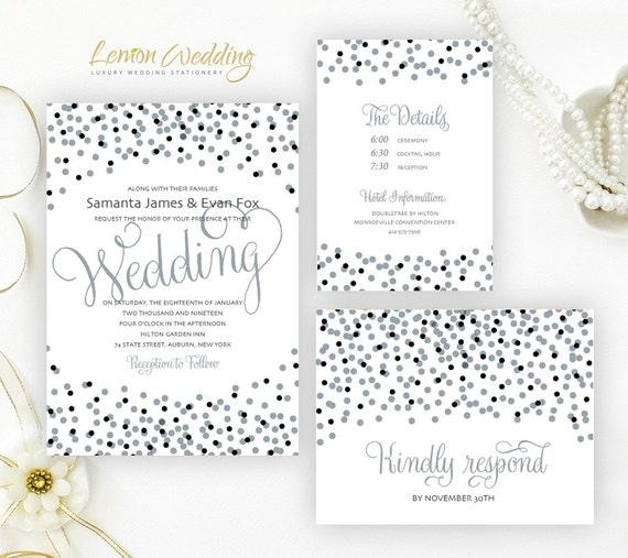 Cheap Wedding Invitation Paper: Cheap Wedding Invitation Kits Printed On Shimmer Paper