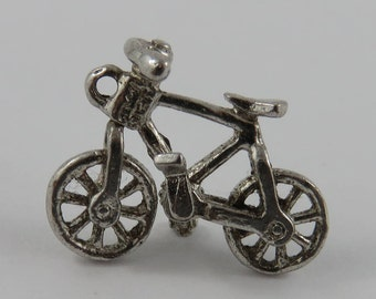 Bicycle Sterling Silver Vintage Charm For Bracelet