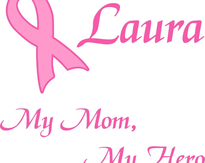Personalized Breast Cancer T Shirt Hero Design you fill in the blank plus optional name 100% cotton short-sleeves