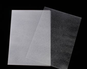 Set of 3 sheets of shrink plastic 29 x 20 cm - transparent