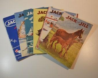 1940s-50 Jack and Jill Children's Magazine, Books (6)