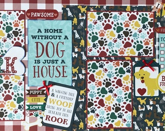 Dog Scrapbook Page Kit