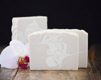 Amber + Blossoms Scented Soap | Luxury Artisan Cold Process Soap