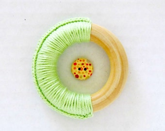 Wood Teething Ring / Eco Baby Teethers / Montessori Toy for Baby