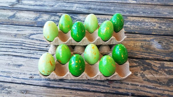 Decorative Easter Eggs, Artifical Easter Eggs, Gold Speckled Eggs, Green Ombre Eggs
