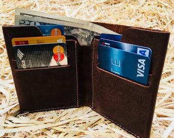 Minimalist Men's Leather wallet, Men's Wallet, Leather Wallet, Minimal Leather Wallet, thin leather wallet