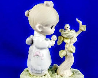 His Eye Is On The Sparrow Precious Moments Figurine