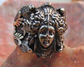 Medusa Snakes for Hair Mens Ring!