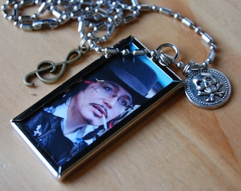 Adam Ant~ Then and Now Necklace, Double Sided (#AG)