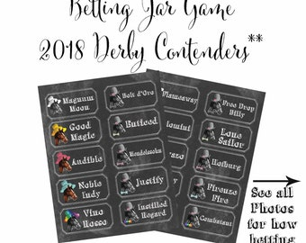 Kentucky Derby Party Betting Game Printable Preakness Belmont Stakes Horse Racing Printable Betting Sheets Digital Files Instant Download