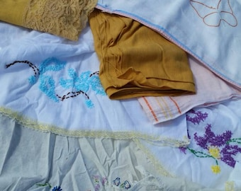 Vintage linens lot, tablecloths and more