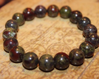 Natural Dragon Blood Jasper Bracelet