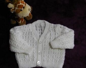White Baby Cardigan