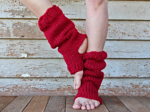 Yoga Sock Leg Warmer Knitting Pattern Relaxation A Set Of