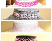 Pink Tattoo Choker Best S...