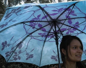BONSAI Crystalotus print Umbrella, shade umbrella, wedding umbrella, flower of life, festival umbrella, parasol, beach umbrella