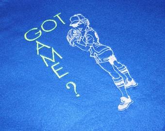 SALE 40% off Fleece Blanket Softball Royal Blue Blanket Embroidered GOT GAME Softball Embroidery Fleece Blanket Royal Blue