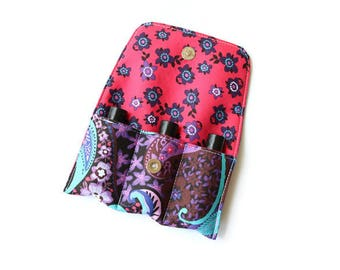 Essential Oil Clutch~Essential Oil Bag~Oil Holder~Doterra ~Young Living~Rollerball~5ml~10ml~15ml~