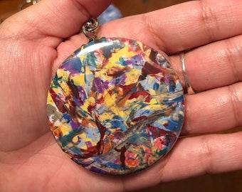 Multicolored Button Keychain