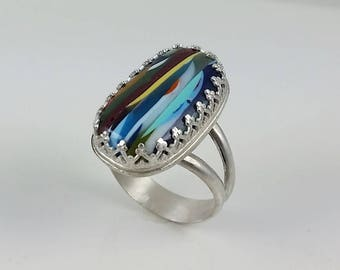 Surfite Statement Ring Set in Sterling Silver, size 8.5