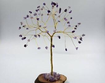 February birthstone, Amethyst gemstone tree, Wire tree, February birthstone gift, Crystal tree, Wire tree of life, Purple tree sculpture