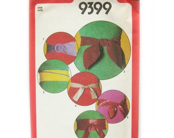 Obi Belt Pattern / 1980s Vintage Sewing Pattern / Wrap Belt Pattern / Tulip Tie Belt / Leather Crafting / BELTS and Accessories / Uncut FF
