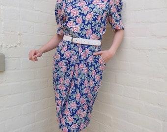 Vintage 80/90s Floral Dress Size 6 Petite