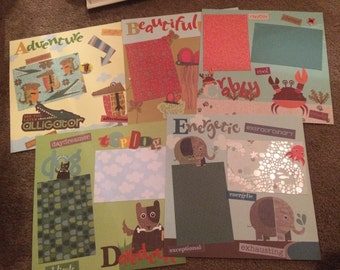 Entire A to Z scrapbook pages - 26 pages in total