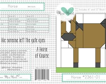 Horse PDF Quilt Pattern