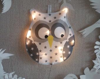 Little white OWL night light