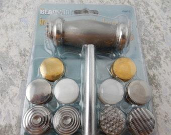 Texturing Hammer, Twelve Interchangeable Heads,  BeadSmith Texture Hammer for stamped jewelry designs