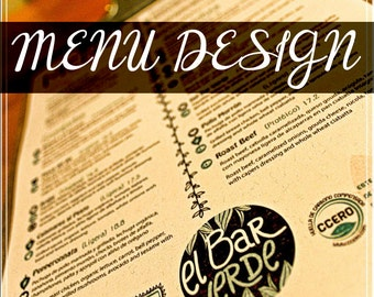 Custom Restaurant Menu Design.