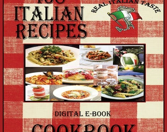 438 Italian Recipes E-Book Cookbook Digital Download