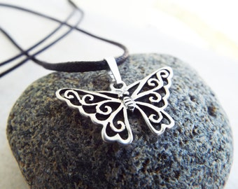 Sterling Silver Pendant Butterfly Handmade 925 Necklace Wings 1