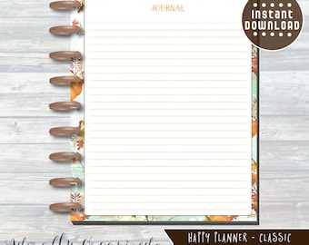 HAPPY PLANNER PRINTABLE Journal Planner Pages / Inserts - 7 x 9.25 | Autumn Harvest | Create 365 | Me & My Big Ideas | mambi | Journal Pages