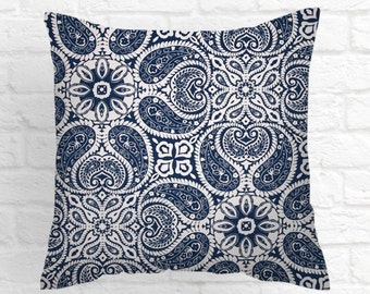 Pillows Tibi Navy  Decorative Throw Pillow Covers  Navy Cushion Covers All Sizes    Accent Pillows  Coral Pillows