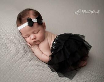 Tutu Set with Chiffon Headband, Baby Girls Headband, Hair Accessories, Hair Band, Newborn Photography, Photo Prop, Hair Band