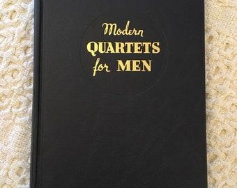 Modern Quartets for Men, Vintage Books, Old Books, Music Books, Quartet Book, Old Music Books, Vintage Music Books