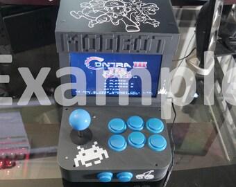 EmuPi RetroPie Mini Arcade Cabinet v1 3d Printed Parts Black